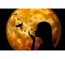 Moon-Woman Photographic Print