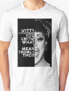 Thorgy Thor Text Portrait T-Shirt
