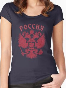 Russia Coat of Arms Women's Fitted Scoop T-Shirt