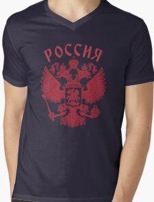 Russia Coat of Arms Mens V-Neck T-Shirt