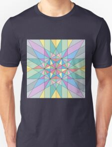 Colorful Pastel Mosaic Triangle Star Unisex T-Shirt