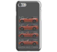 Mazda MX-5 evolution iPhone Case/Skin