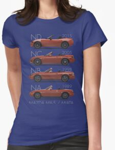 Mazda MX-5 evolution Womens Fitted T-Shirt