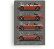 Mazda MX-5 evolution Canvas Print