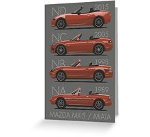 Mazda MX-5 evolution Greeting Card