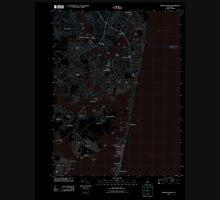 USGS TOPO Map New Jersey NJ Point Pleasant 20110412 TM Inverted Unisex T-Shirt