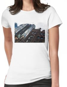 Yonge Street - Downtown Toronto Architecture Right Womens Fitted T-Shirt