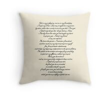Letter to Laurens Throw Pillow