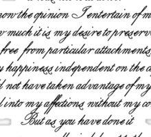 Letter to Laurens Sticker