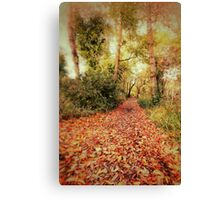 Rustling Autumn Leaves Canvas Print
