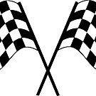 Checkered Flag Racing Sticker by ImageMonkey