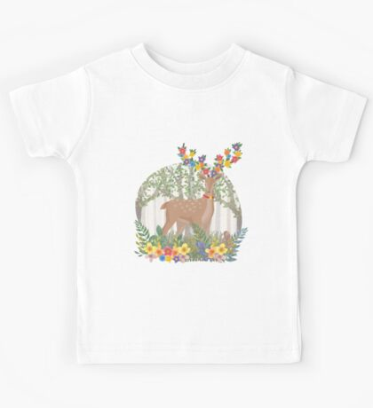 Deer in the forest Kids Tee