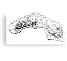 xenomorph skull Metal Print