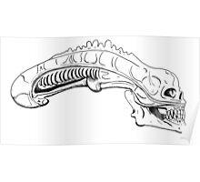 xenomorph skull Poster