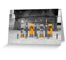 Colored bullets Greeting Card