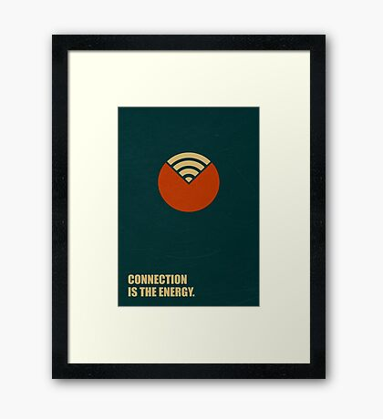 Connection Is The Energy - Corporate Start-up Quotes Framed Print