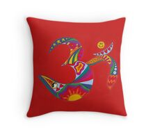Psychedelic Om Throw Pillow