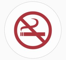 No Smoking T-Shirt ~ Stay Healthy Top ~ Phone Cover ~ Card Quit Sign One Piece - Long Sleeve