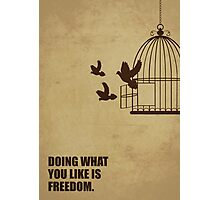 Doing What You Like Is Freedom - Corporate Start-up Quotes Photographic Print