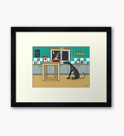 She Knows She Shouldn't  Framed Print