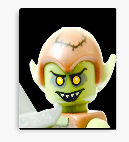 The Lego Goblin minifigure Canvas Print