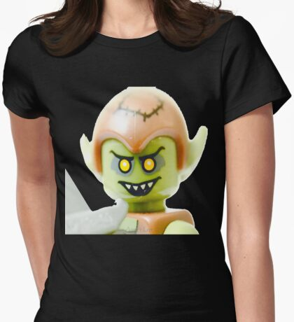 The Lego Goblin minifigure Womens Fitted T-Shirt