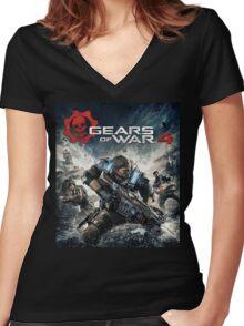 GEARS OF WAR 4 [4K]  Women's Fitted V-Neck T-Shirt