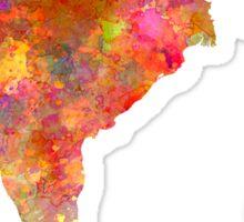 India  in watercolor Sticker