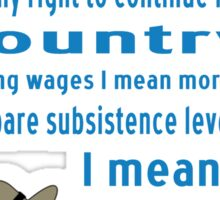 FDR on Wages Sticker