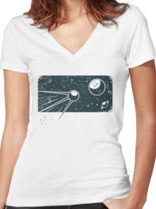 Sputnik Women's Fitted V-Neck T-Shirt
