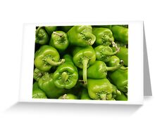 Green chillies Greeting Card