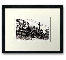 Desert Landscape 01 Framed Print