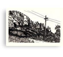 Desert Landscape 01 Canvas Print