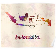 Indonesia in watercolor Poster