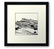 Desert Landscape 02 Framed Print