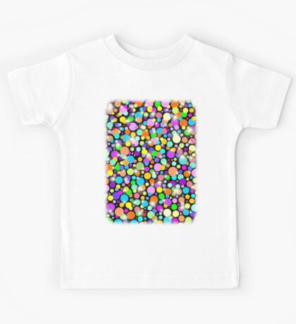 Polka Dots Psychedelic Colors Kids Tee