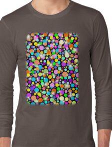 Polka Dots Psychedelic Colors Long Sleeve T-Shirt