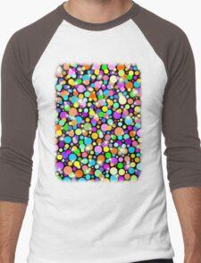 Polka Dots Psychedelic Colors Men's Baseball ¾ T-Shirt