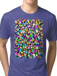 Polka Dots Psychedelic Colors Tri-blend T-Shirt