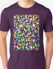 Polka Dots Psychedelic Colors Unisex T-Shirt