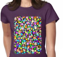 Polka Dots Psychedelic Colors Womens Fitted T-Shirt