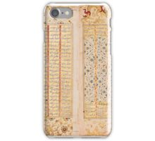 eaves from an illuminated manuscript of Nizami's Khamsa, Persia or India, early  iPhone Case/Skin