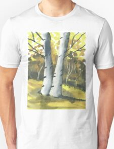 Silver Birch Trees Unisex T-Shirt