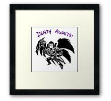 Smite - Death Awaits (Chibi) Framed Print