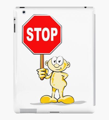 Cartoon with stop sign iPad Case/Skin