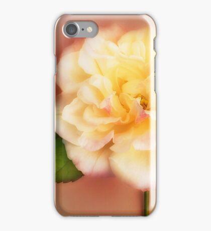 Rose Flower Peach White Garden Rose Floral Floral Fine Art iPhone Case/Skin