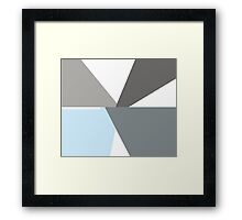 Memphis - GrayJärvine Framed Print
