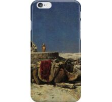 Edwin Lord Weeks - Camels beside a cistern iPhone Case/Skin