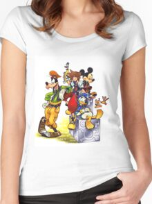 Kingdom Hearts Women's Fitted Scoop T-Shirt