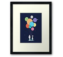 out of space love Framed Print